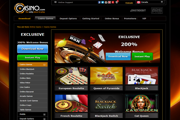 casino com games screenshot